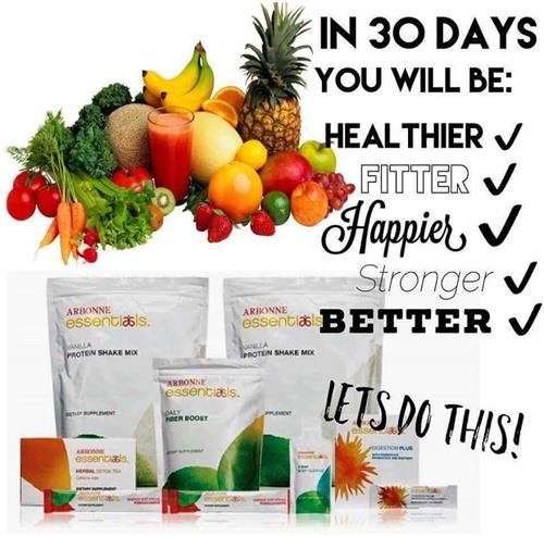 Arbonne 30 days to healthy living and beyond program:)