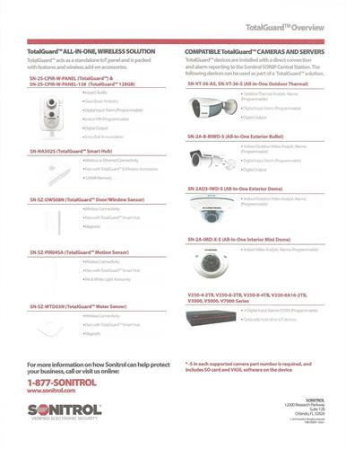 Total Guard Compatible Cameras and wireless solutions