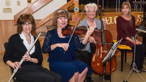 Mrs. Joni with the Music-Aires Quartet