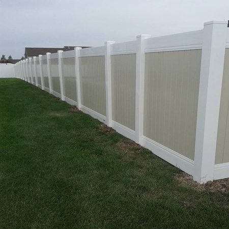 Tan PVC Fence