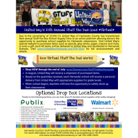 News Release: 7/1/2020: United Way Virtual Stuff the Bus