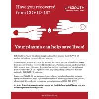 News Release: 8/6/2020: Convalescent Plasma