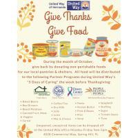 News Release: 10/8/2020 :''Give Thanks, Give Food'' Drive