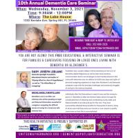 News Release: 10/18/2021: Location Change for United Way's Dementia Care Seminar