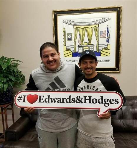 Happy clients with Edwards & Hodges.