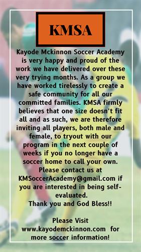 KMSA Tryouts