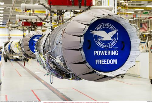 F135 engine on production line