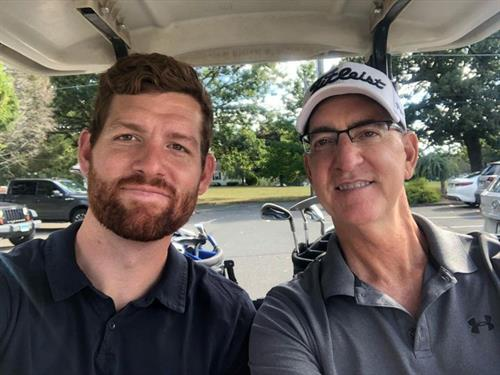Dan & Tom Sardilli - on the course!