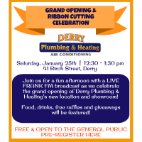 Derry Plumbing & Heating Grand Opening & Ribbon Cutting Celebration