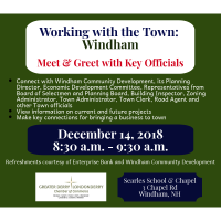 Working with the Town: Meet & Greet in Windham