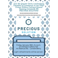 Virtual Grand Opening and Ribbon Cutting Ceremony - Precious Solution