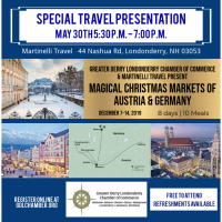 Travel to Magical Christmas Markets Austria & Germany Information Night