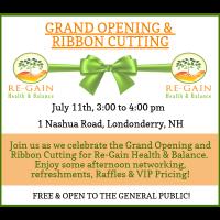 Re-Gain Health & Balance - Ribbon Cutting Ceremony