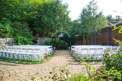 Naturally-Beautiful Ceremony with Lush Greenery