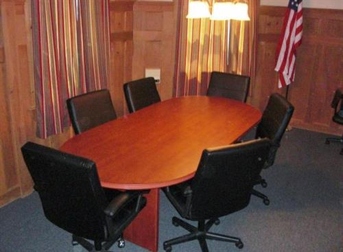 Our small conference room, dedicated to Don Ball.
