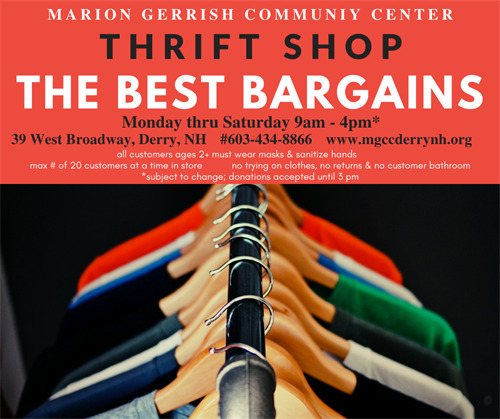 All the best bargains are at the THRIFT SHOP!