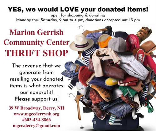 Donate to our THRIFT SHOP!