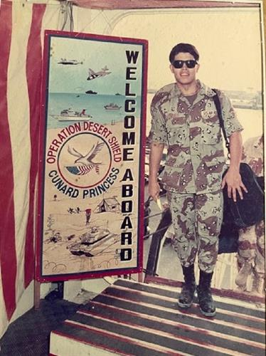 Jimmy Lyndes, Desert Shield