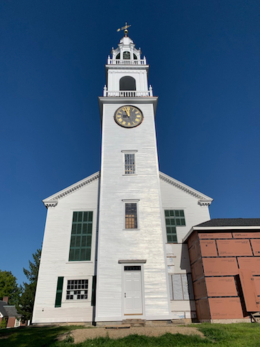 Meetinghouse west end, with restored Tower including working original door.