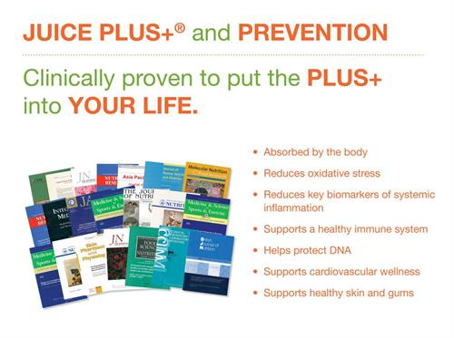38 Gold Standard Research Studies to show what Juice Plus+ can do for your health