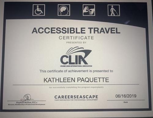 Certified in Accessible Travel