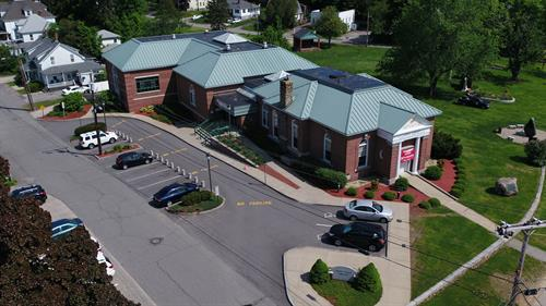 Drone view of Derry Public Library