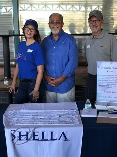 The Shella Foundation hosted a table at the Storm Stadium's Disabilities Awareness Night. (Left to Right: Kristin Dumont, Secretary & Treasurer| Michael Foster, CEO| Phil Liso, Committee Advisor)