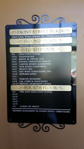 Office Directory and Suite Signs