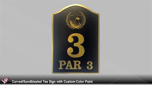 3-D Sandblasted Signs