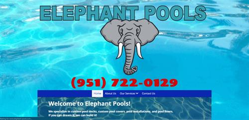 Elephant Pools, specializing in all pools installs and custom decking
