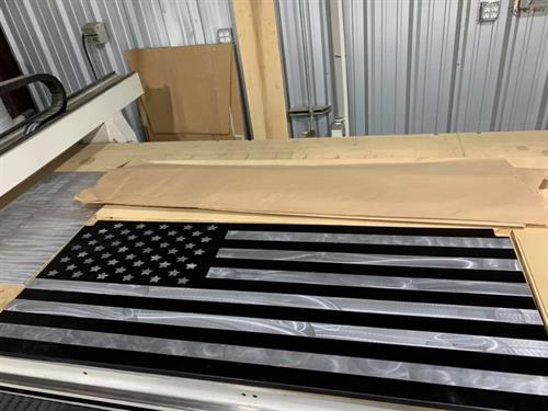 Wood and Aluminum desk top