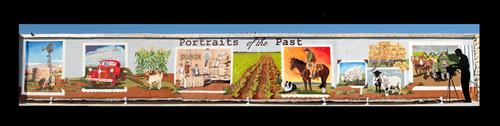 """Portraits of the Past"" mural - 416 South Liveoak, Lampasas, TX"