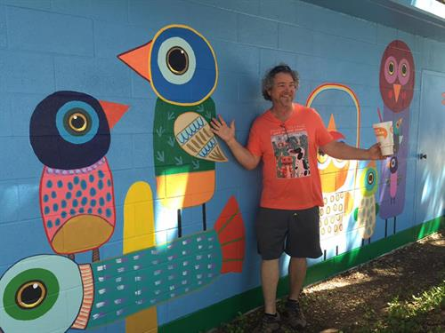 """#HanginWithMyPeeps"" mural - W.M. Brook Park, Lampasas, TX"