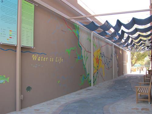"""""""Water is Life"""" mural - Pecan Street (between 3rd and 4th Street) Lampaas, TX"""