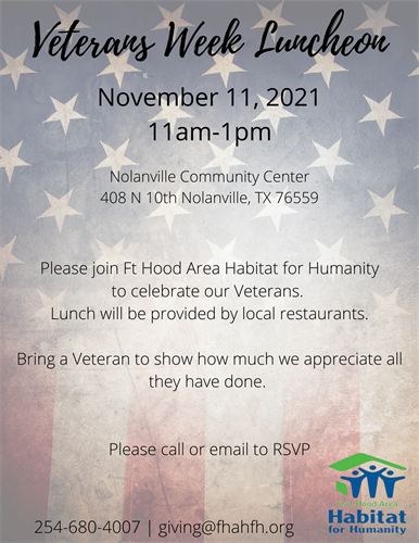 Veterans Week Highlight Luncheon Nov 11