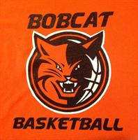 Catchy 2-color full front imprint we made for local basketball team.