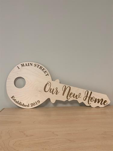 Housewarming Gift & New Home/Car/Business Purchase Photo Prop