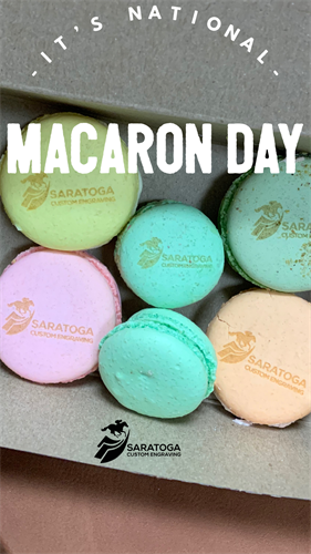 Engraved Macarons - Dessert Tables, Party Favors, Special Gift