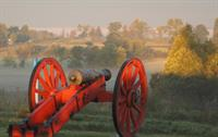 Misty morning cannon at Tour Road Stop 2