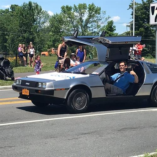 Don and his car in the Clifton Park 4th of July parade