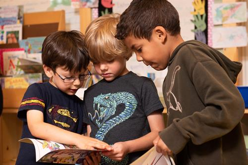 Students work collaboratively to discover, learn, and grow