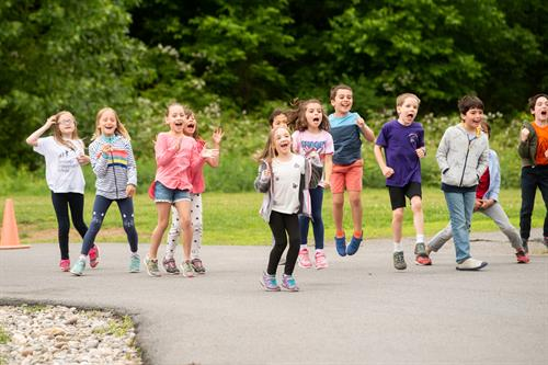 Students enjoy outdoor Physical Education classes