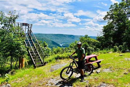 Mountain Biker taking in the views