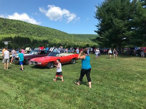 The annual Antique Auto Show draws huge crowds each July.