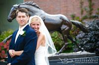 Wedding Secretariat Statue in Courtyard