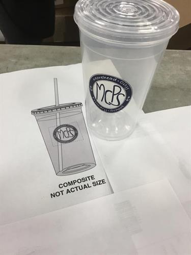 This customer came to use and ordered our 16 Oz. Flexible Double Wall Tumblers that have a nice imprint area to display your logo prominently like they decided to show here.