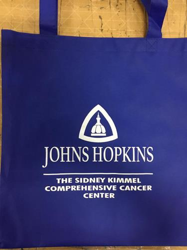Our client came looking for a tote bag and it displays their logo prominently for all to see. They decided to get our Non-Woven tote bag that is offered in many different colors and is made from 80 gram non-woven coated water-resistant polypropylene.
