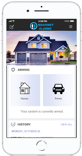Virtual Keypad App - Operate your alarm system from your smartphone.