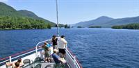 Mohican cruising through the Narrows on Lake George