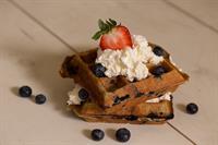Double Blueberry Doozy waffle